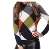 Women's Winter Long Sleeve Crew Neck Knitted Base Pullover Sweater