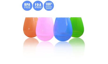 4 Piece Unbreakable Wine Glasses a1dcac3f-55a2-489a-af4e-c085dff9cef3