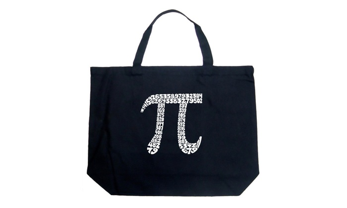 Large Tote Bag - THE FIRST 100 DIGITS OF PI