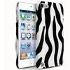 Insten Rubber Hard Case For iPod Touch 6 6th 5 5th Gen Black Zebra