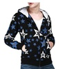 Men's Fashion Vintage Casual Printed Hooded Zip Up Cotton Hoodie