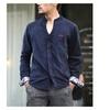 Men's Cosy Fashion Casual Cotton V Neck Long Sleeve Shirt