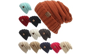 New Fall Winter Trendy Knitted Casual Beanies Hat for Women