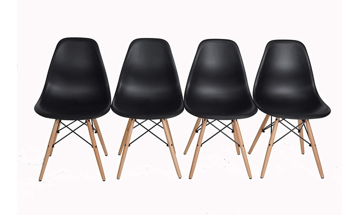 Peachy Up To 83 Off On Eames Style Dining Chairs Set Groupon Creativecarmelina Interior Chair Design Creativecarmelinacom