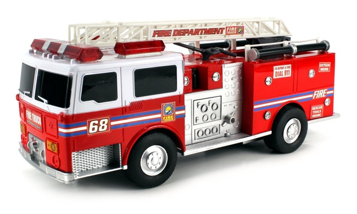 Super Express Battery Operated Remote Control RC Fire Truck RTR