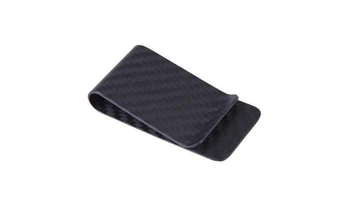 Up to 72 off on carbon fiber money clip credi groupon goods carbon fiber money clip credit card holder business card holder clips colourmoves