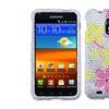 Insten Hibiscus Flower Romance Bling Case SAMSUNG Epic Touch Galaxy S2