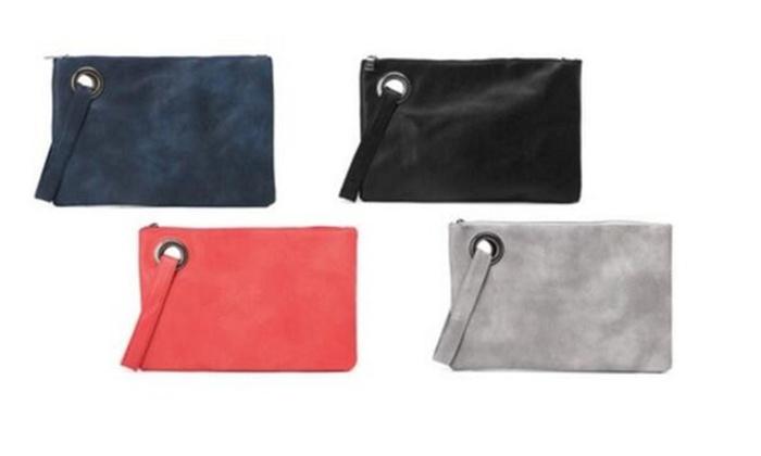 Women Leather Phone Holder Straps Purse Envelope Long Handbag