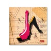 Roderick Stevens Suede Heel Pink Canvas Print