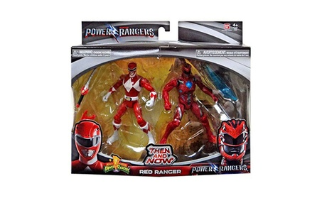 Saban's Power Rangers Then and Now Red Ranger Action Figure Set a742ef4e-26ce-443f-9614-0e017fcfcd58