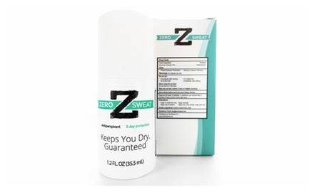 ZeroSweat Antiperspirant - 100% Guarantee - 72 Hour Protection - No Mess Application - 2 Month Supply
