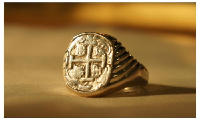 Men S Atocha Coin Ring In Atocha Silver Pirate Jewelry