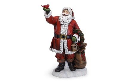 NAPCO 46105 Santa with List Figurine (Goods For The Home Seasonal Décor Christmas) photo