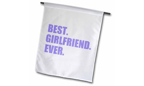 Garden Flag Purple Best Girlfriend Ever text - anniversary valentines day gift
