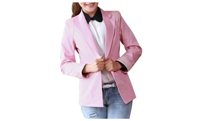 Shefetch Women's Slim Fit Fashion Lapel One Button Long Sleeves Blazer