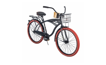 "26"" Nel Lusso Cruiser with Perfect Fit Frame Men's Bike, Black bc3bc89e-d71c-466b-a632-76f35f3cbdb9"