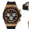 Ulysse Girard Chronograph Arbour Mens Watch Black/Rose Gold/Black