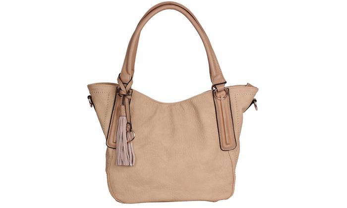 'Halle' Shoulder Bag in Beige