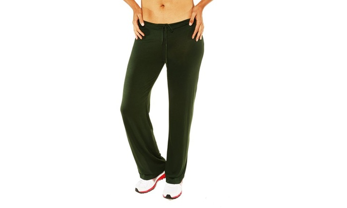 24/7 Comfort Apparel Women's Draw String Narrow Pants