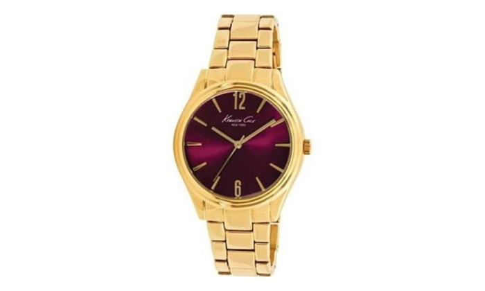 kenneth cole new york gold tone 10021765