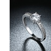 1.50 CTTW Single Solitaire Crystal Engagement Ring Set in 14K Gold Plating
