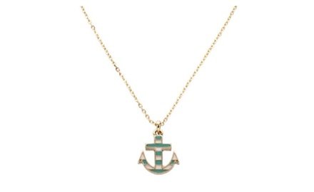 Anchor Striped Necklace