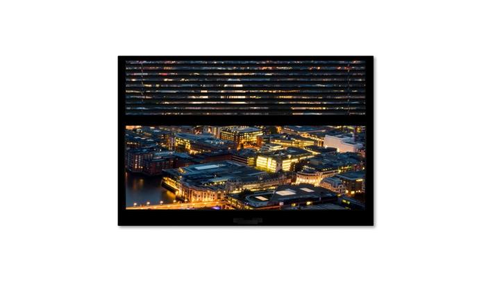Groupon Goods: Philippe Hugonnard 'Window View London by Night 4' 2 Panel Art 2