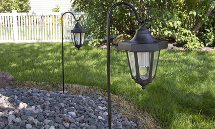 Pure Garden Solar LED Hanging Coach Lantern Set (2-Piece)