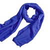 Zodaca Blue Women Men Cotton Pashmina Scarves Shawl Wrap Scarf
