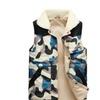 Men's Camouflage Turn-Down Collar Cotton Vest Jacket