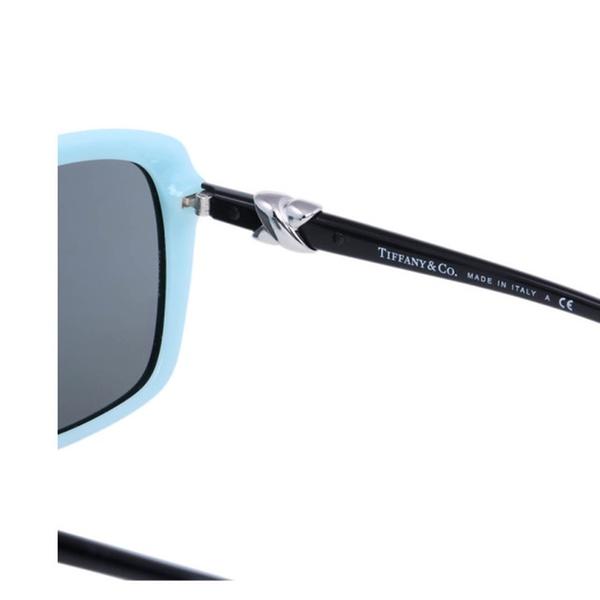 60a442a2a55 Luxury Women Tiffany   Co TF4076 Square Black and Blue 2015 Sunglasses