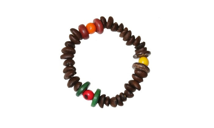 Sienna Real Coffee Bean Bracelet With Acai Beads