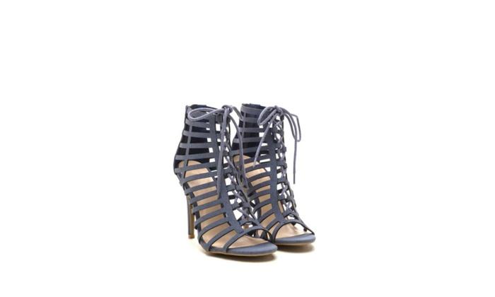 Simply U.B.U. Shoes Women's Vibes Heels, Denim