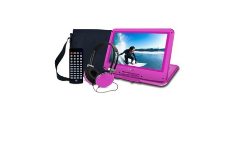 Portable DVD Player with Travel Bag and Headphones 0ac20a2c-9484-4fc9-98c2-f68f7b53caff