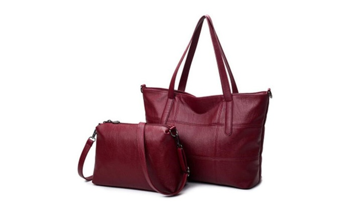 High Quality Soft PU Leather Handbags Women Shoulder Bags