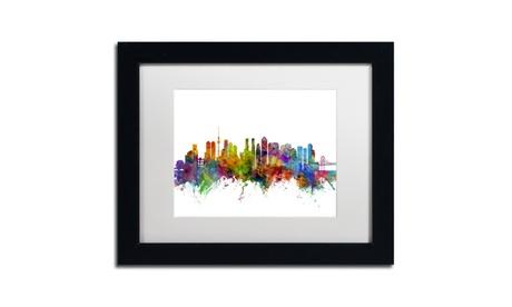 Michael Tompsett 'Tokyo Japan Skyline' Matted Black Framed Art 253dc9a9-46f6-429d-9b5c-cc0b3d63f747