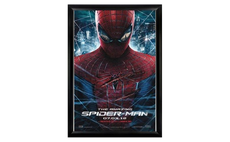 The Amazing Spider man - Signed Movie Poster in Wood Frame with COA c48b00fb-4386-431a-83e8-3caa150c36e3