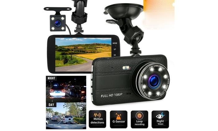 "4/"" Vehicle 1080P HD Car Dashboard DVR Camera Video Recorder Dash Cam G-Sensor"