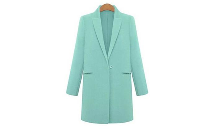 Women's Winter Loose Slim Fit Lapel Woolen Jacket Overcoat