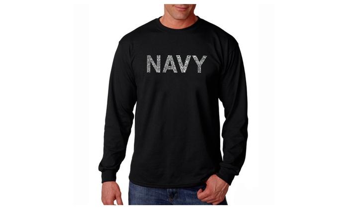 Men's Long Sleeve T-shirt - LYRICS TO ANCHORS AWEIGH