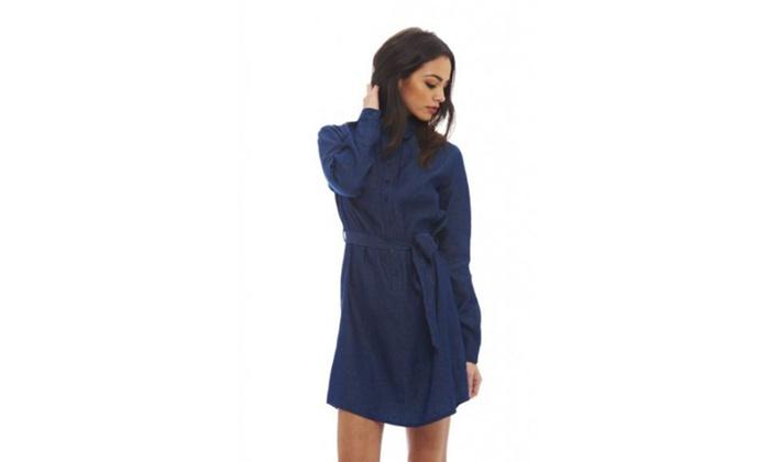 AX Paris Women's Denim Shirt  Dress