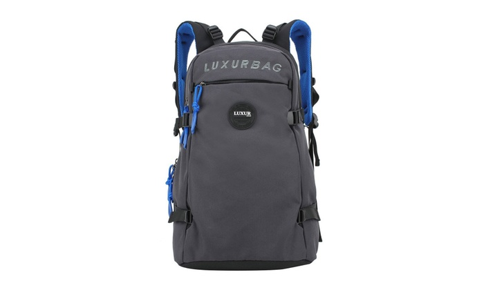 LUXUR 40L Canvas Casual Laptop Backpack