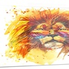 The King Watching Animal Metal Wall Art 28x12