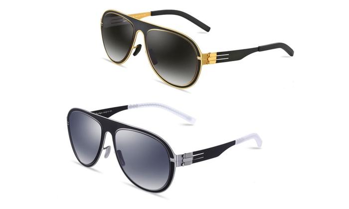 i-Design ID1002 Ultra Light Aviator 57mm Sunglasses for Men
