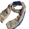Zodaca Blue/White Pashmina Wrap Shawl Linen Scarf Long Voile Stole
