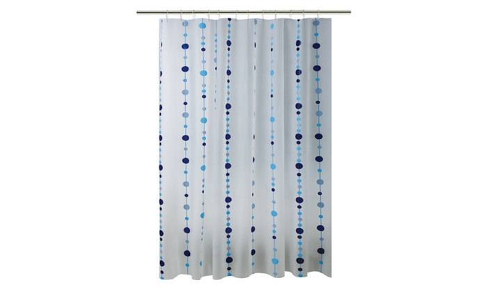 Bath Bliss Shower Curtain In Blue Chandelier Design Groupon