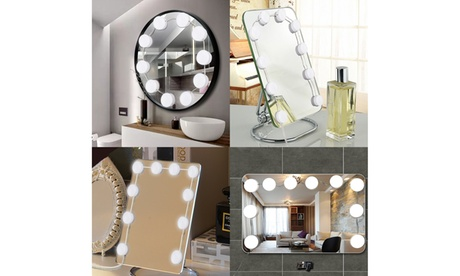 Vanity LED Mirror Lights Kit Makeup light w/ 10 Bulbs and Touch Dimmer