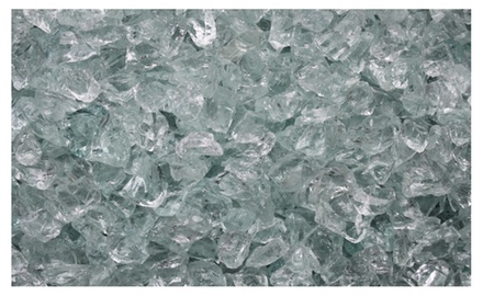 Crushed Ice Fire Glass 3/8