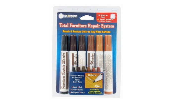 12 Total Furniture Repair System Scratches Piece Marker Wood Restore