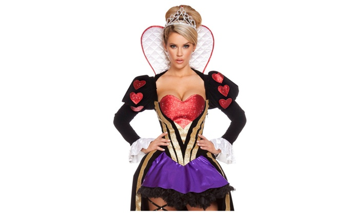 Women's Sultry Heartless Queen Costume – one size